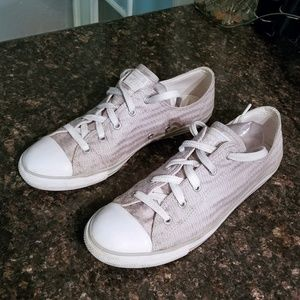 Converse grey/silver fabric sneakers 11